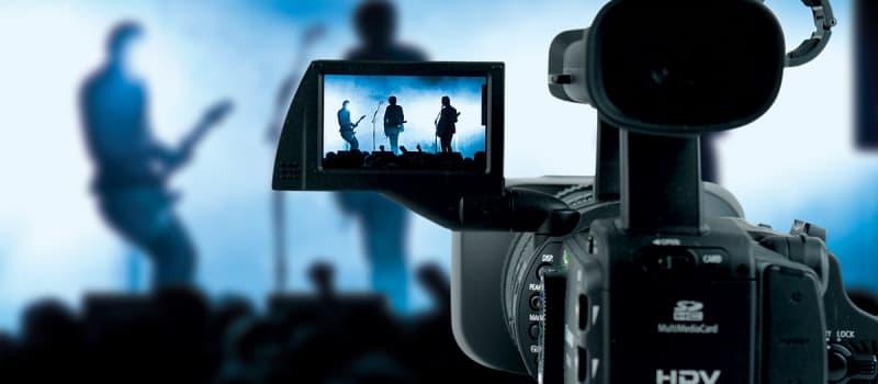 съемка музыкального клипа